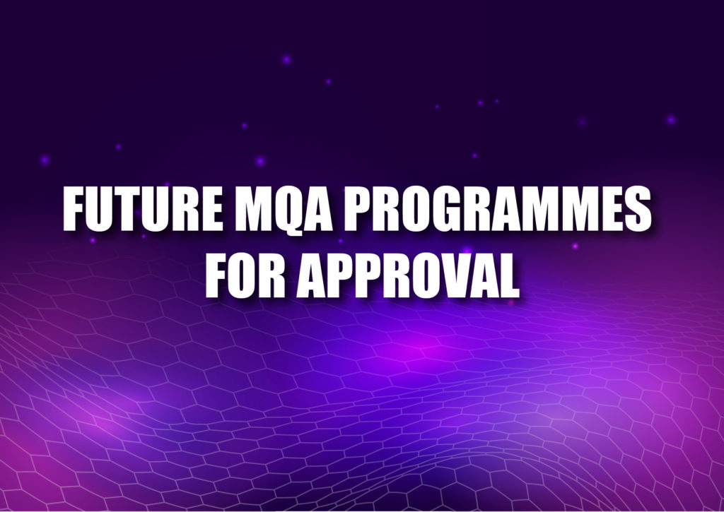 Future MQA Programmes for approval